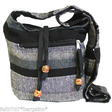 Nepal Sling Bags Shoulder Strap Boho Chic Hippy Everyday Bag - Mountain Granite
