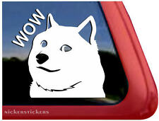 Shiba Inu Wow | High Quality Vinyl Shibe Doge Auto Window Tablet Sticker Decal