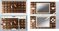 nintendo DS Lite - CHOCOLATE BAR - 4 Piece Decal Sticker Skin vinyl