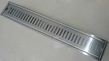 Brushed Stainless Steel Shower Drain Grate Bathroom Floor Drain 40CMX10CM D19-4