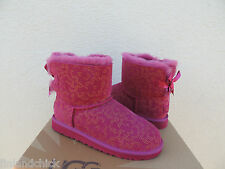 UGG PINK MINI BAILEY BOW CONIFER BOOTS, YOUTH 6/ FITS WOMENS US 8/ EUR 39 ~NIB