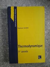 OLIVIER Thermodynamique 1ère année