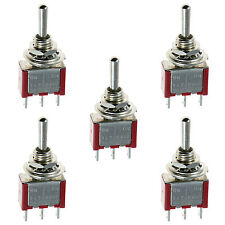 5 X on/off/on Mini Miniatura interruptor de palanca coche DASH SPDT