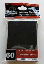 Yugioh Monster Protectors BLACK Glossy Non-Textured Deck Protectors/Sleeves