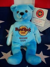 HRC Hard Rock Cafe Guam Blue Tye Dye Bean Beara LE Herrington 2009