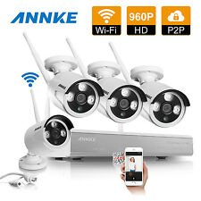 ANNKE 4CH 960P HD NVR Wireless IP Network In/ Outdoor IR Security Camera System
