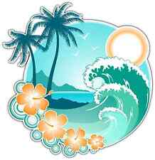 "Tropical Islands Hawaii Car Bumper Window Locker Sticker Decal 4""X5"""