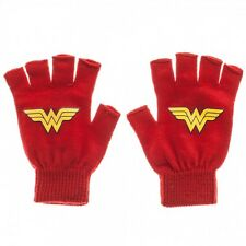 WONDER WOMAN LOGO fingerless gloves Red