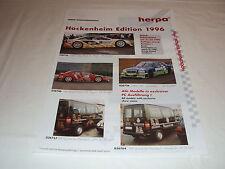 W/2/13/2 Modell Modellauto Katalog Prospekt Herpa Miniaturmodelle Hockenheim ´96