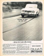 PUBLICITE ADVERTISING   1965   ALFA ROMEO  GUILIA TI