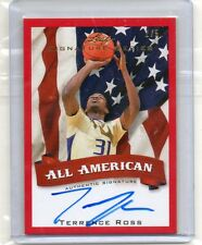 (E61) 12-13 Terrence Ross Leaf Signature Series ALL AMERICAN RED AUTO RC#D 1/5