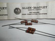82 Ohm 1 Watt 5% Allen Bradley Composition Resistor 5 Pieces  OEM PARTS!!