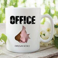 Ofensivo Mug Humor Novedad Divertida Oficina Marrón Nariz Cumpleaños Cup