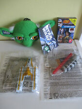 Squashy insapori Yoda Star Wars Y Wing Fighter MCDONALDS Light Saber gioco di carte NUOVO