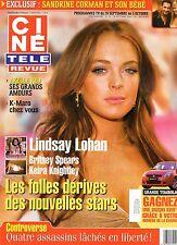 CINE REVUE (belge) 2006 N°39 lindsay lohan axelle red kiefer sutherland K-maro