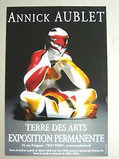 Affiche originale AUBLET Annick Femme Sculpture Terre des Arts