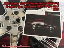 2008 SALEEN S281RF SUPERCHARGED MUSTANG BROCHURE CARD FORD S281 GT COBRA SHELBY