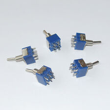 5Pcs Mini Interruptor Palanca 6-Pin DPDT ON-ON 6A 125VAC Switch conmutador