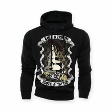 Felpa Hoodie Uomo King Kerosin Bozie & Tattoo Biker Custom Taglia S Idea Regalo