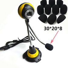 10PCS High Elasticity Microphone Headset Windscreen Sponge Foam Black Mic Cover