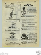 1932 PAPER AD Boyce Car Automobile Hood Ornament Victory Goose Moto Meter