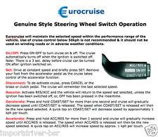 Plug-in Steering Wheel Electronic Cruise Control Kit Suzuki Swift Sport 1.6L