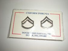SILVER METAL POLICE/ LAW ENFORCEMENT CORPORAL GRADE 1 COLLAR RANK - ONE PAIR