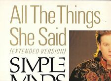 LP 3920 SIMPLE MINDS  ALL THE THINGS SHE SAID