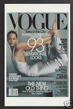 VOGUE MAGAZINE COVER ART REPRINT POSTCARD October 2002 Christy Turlington Photo
