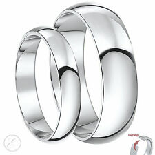 9ct White Gold His & Hers heavy Wedding Rings 4 & 6mm