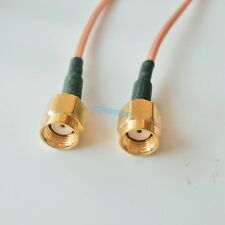 RP-SMA MALE to RPSMA male Straight Connector Coaxial RF Cable RG316 6inch