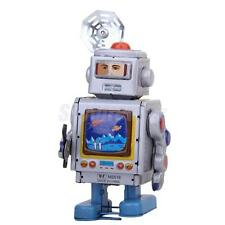 Retro Wind up walking Robot Astronaut Repairman tin toy clockwork mechanical