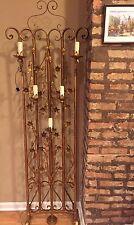 Rare Vintage Italian Gilt Tole Floor Lamp 5 Lights Vintage Candle Style