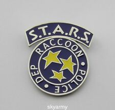 RESIDENT EVIL STARS S.T.A.R.S. RACCOON DEP. POLICE LAPEL PIN