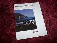 Catalogue / Brochure SAAB 900 Cabriolet 1994 //