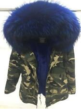 Hot Women Camo Real Fur Collar Hooded Coat Cotton Parka Warm Thicken Jacket New