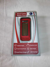 AMBIENT WEATHER WR-099 COMPACT EMERGENCY SOLAR HAND CRANKED AM/FM RADIO - NEW