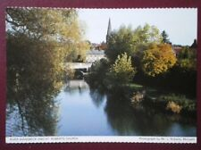 POSTCARD NORTHUMBERLAND RIVER WANSBECK & ST ROBERTS CHURCH