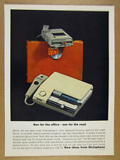 1963 Dictaphone Time-Master/7 & Travel-Master dictating machine vintage print Ad