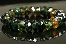 Green Tourmaline Small Faceted Rondelle Bead - 5mm x 1.6~3.5mm- 26 beads - 4782A