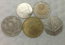 WORLD ASSORTED FIVE COUNTRIES AND FIVE COINS
