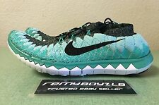 Nike Free 3.0 Flyknit Mineral Teal Turquoise Women's Sz 9 Running Racer Trainer