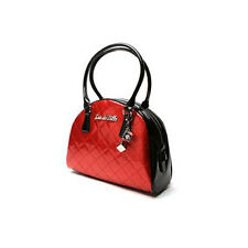Lux De Ville Atomic Bowler Bag Black and Red Sparkle with Dice Key Ring