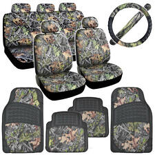 13 Piece HAWG CAMO Car Seat Covers Floor Mats & Steering Wheel Cover for Auto