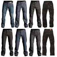 RST MENS CE ARMOURED ARAMID FIBRE REINFORCED DENIM MOTORCYCLE JEANS TROUSERS