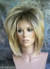LARGE FIT Dark Root w Golden Blonde Layered Womans Nirvana Tina Turner Drag? Wig
