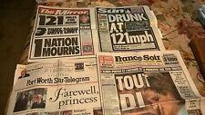 old newspapers about Princess Diana
