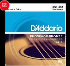 D'Addario EJ-16 Phosphor Bronze Light Acoustic Guitar Strings EJ16