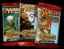 WOTC Magic the Gathering  3X Odyssey Booster Packs New from 2001 MTG
