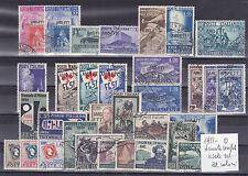ITALIA 1951-TRIESTE A  ANNATA COMPLETA 32 VALORI USATI SELEZIONATI E SPLENDIDI
